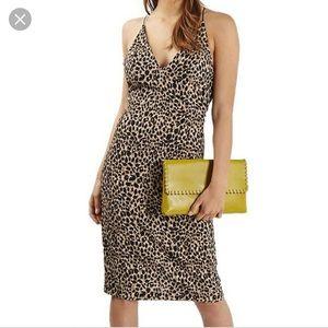 TOPSHOP Cheetah Pencil Dress NWOT Sz 10